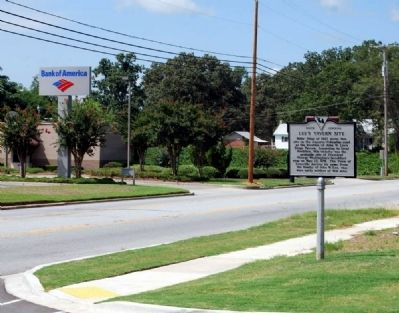 Lee&#39;s Tavern Site Marker -<br>Looking West Along East Columbia Avenue (US 1) image. Click for full size.