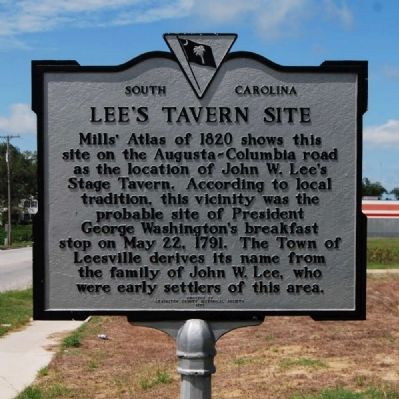 Lee's Tavern Site Marker image. Click for full size.
