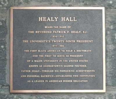Healy Hall Marker - Panel 1 image. Click for full size.