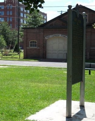 Saint Joseph Marker and Pony Express Stables image. Click for full size.