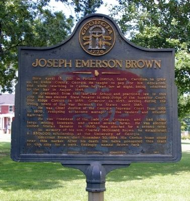 Joseph Emerson Brown Marker image. Click for full size.