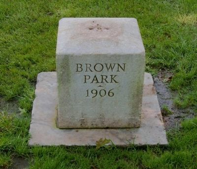 Dedication Stone in Brown Park image. Click for full size.