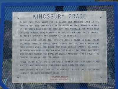 Kingsbury Grade Marker image. Click for full size.