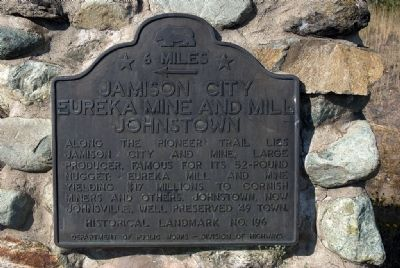 Jamison City Marker image. Click for full size.