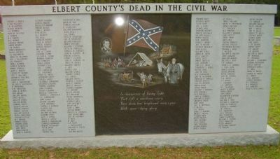Elbert County's Dead in the Civil War Marker image. Click for full size.