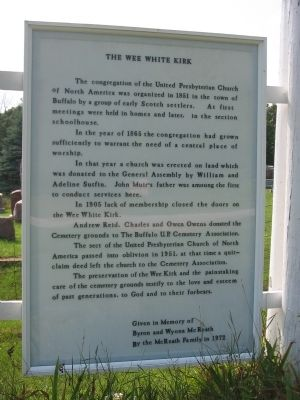 The Wee White Kirk Marker image. Click for full size.