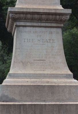 Gonzales Tribute Marker, south face image. Click for full size.