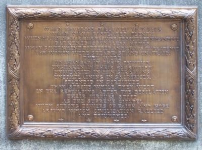 Monument to South Carolina Women of the Confederacy Marker, east face image. Click for full size.