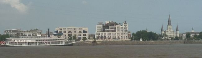The Vieux Carré seen from the Mississippi River image. Click for full size.