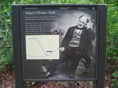 Maury House Trail Marker image. Click for full size.