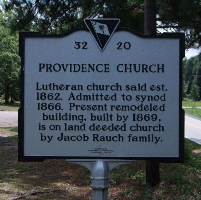 Providence Church Marker image. Click for full size.