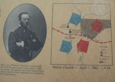Sherman Portrait and Battle Map image. Click for full size.