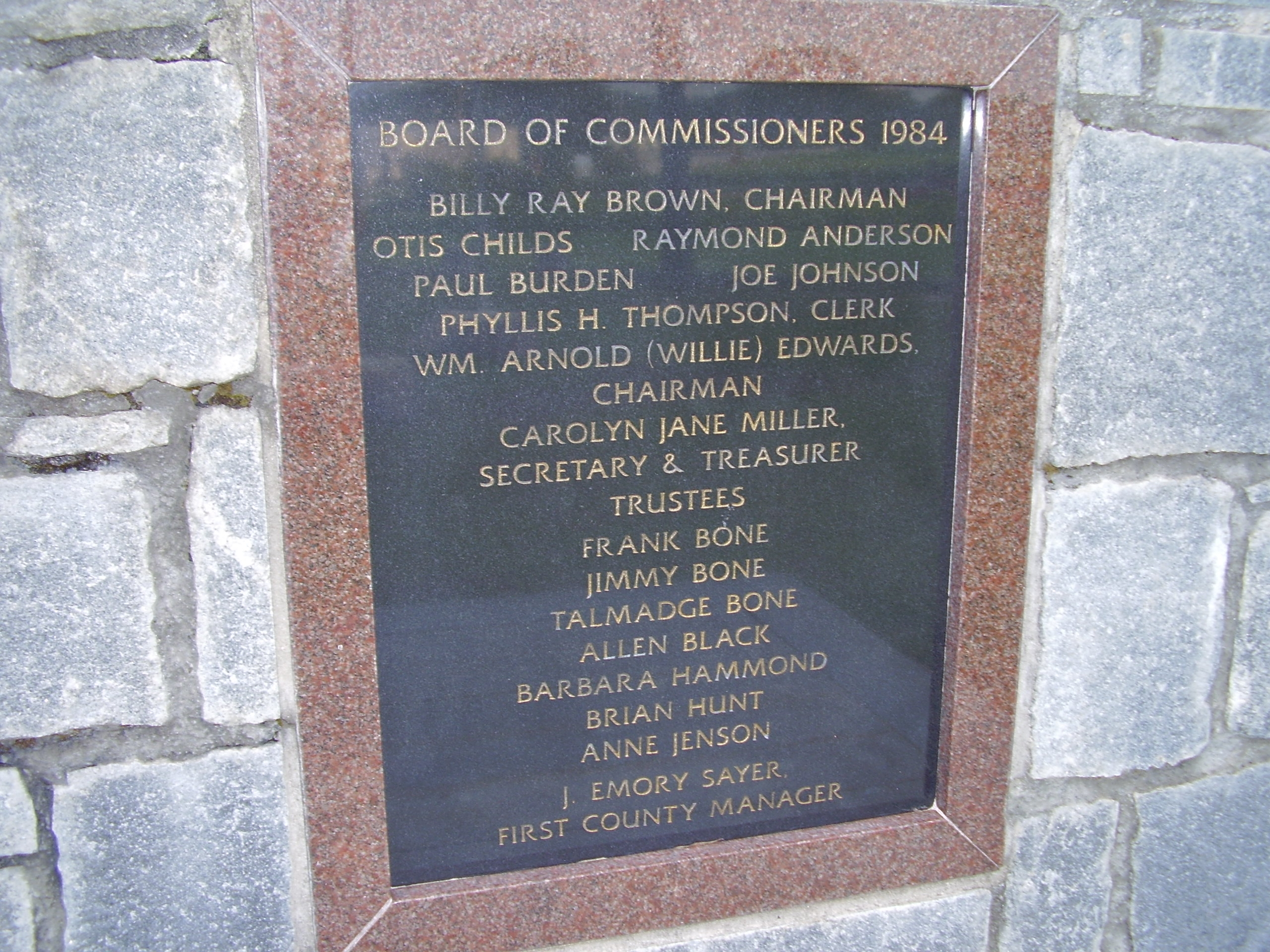 Board Of Commissioners 1984
