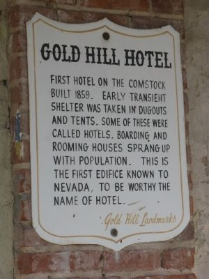 Gold Hill Hotel - Second Marker image. Click for full size.