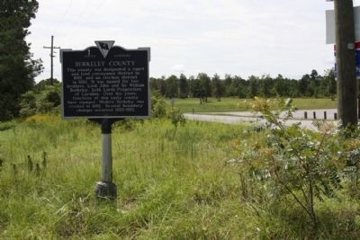 Berkeley County Marker, looking south , County Line Rd.(S-8-59) image. Click for full size.
