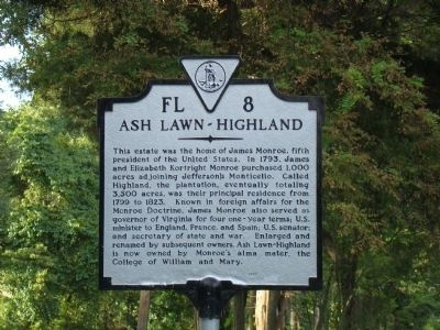 Ash Lawn – Highland Marker image. Click for full size.
