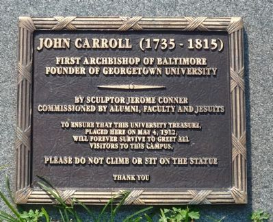 John Carroll Marker image. Click for full size.