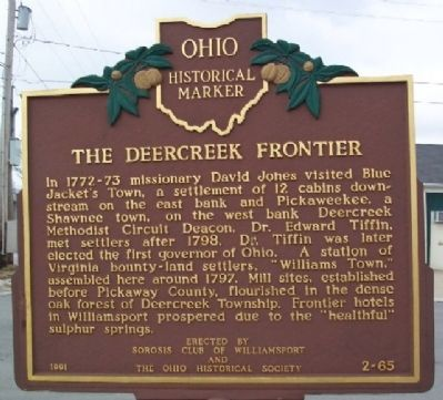 The Deercreek Frontier Marker image. Click for full size.