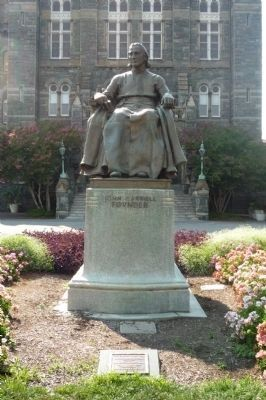 John Carroll marker and statue image. Click for full size.
