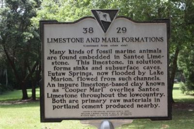 Limestone and Marl Formations Marker image. Click for full size.