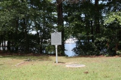 Santee Limestone / Limestone and Marl Formations Marker, Lake Marion seen in background image. Click for full size.