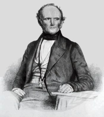 Sir Charles Lyell (1797-1875), noted British geologist, as mentioned on marker image. Click for full size.