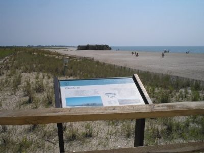 Marker in Cape May Point State Park image. Click for full size.