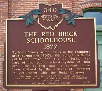 The Red Brick Schoolhouse Marker image. Click for full size.