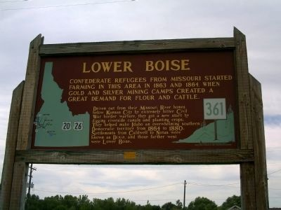 Lower Boise Marker image. Click for full size.