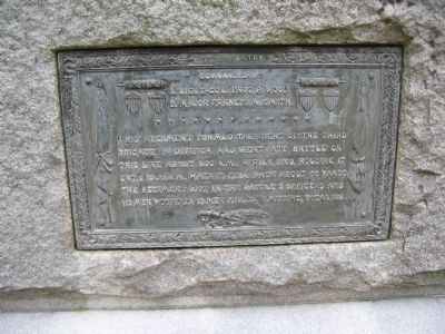 Plaque on Back of Monument image. Click for full size.