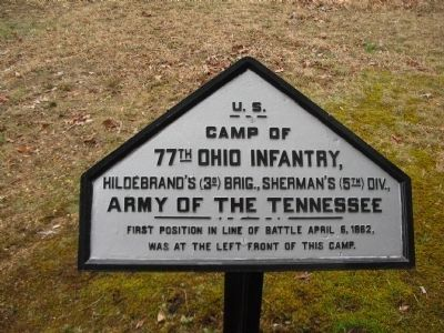 77th Ohio Infantry Camp Tablet image. Click for full size.