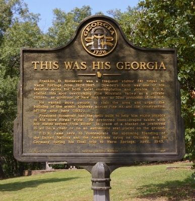 This Was His Georgia Marker image. Click for full size.