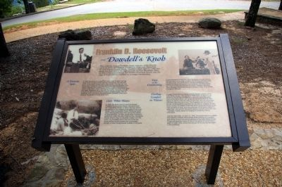 Roosevelt and Dowdell's Knob Interpretive Sign image. Click for full size.