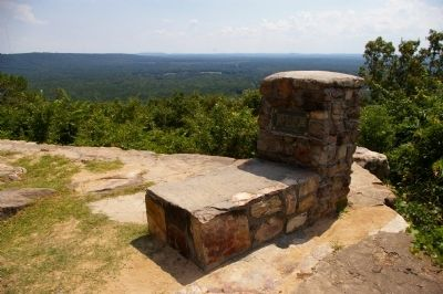 Roosevelt's Barbeque and the View from Dowdell's Knob image. Click for full size.