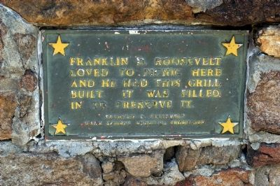 Marker on the Roosevelt Barbeque image. Click for full size.