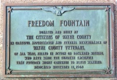 Freedom Fountain Marker image. Click for full size.