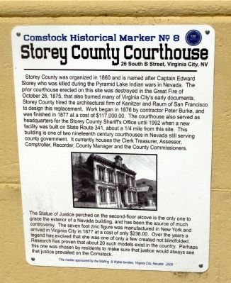 Storey County Courthouse Marker image. Click for full size.