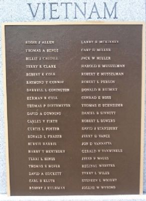 Vietnam War Memorial Roll of Honor image. Click for full size.