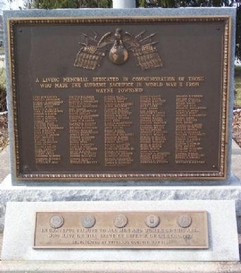 Wayne Township World War II Memorial image. Click for full size.