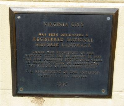 Virginia City National Historic Landmark Designation Plaque image. Click for more information.