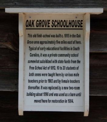 Oak Grove Schoolhouse Marker image. Click for full size.