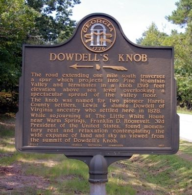 Dowdell's Knob Marker image. Click for full size.