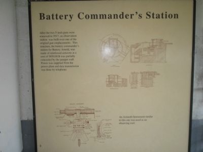 Battery Commander's Station Marker image. Click for full size.