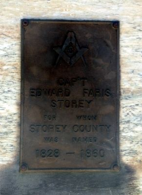 Captain Edward Faris Storey Marker image. Click for full size.