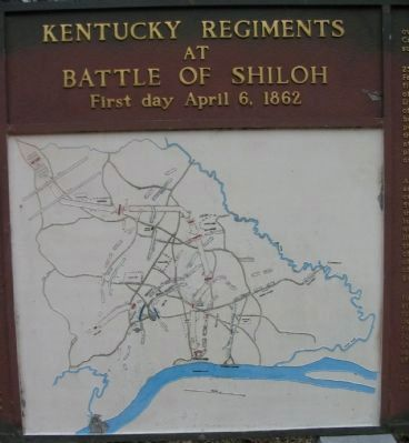 Battle Map - April 6, 1862 image. Click for full size.