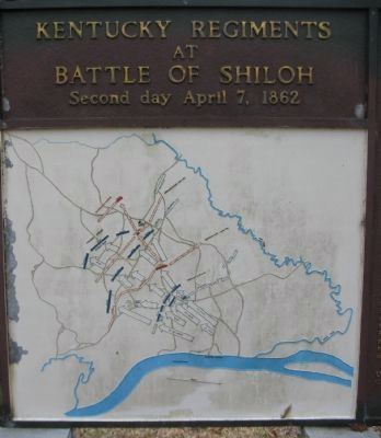 Battle Map - April 7, 1862 image. Click for full size.