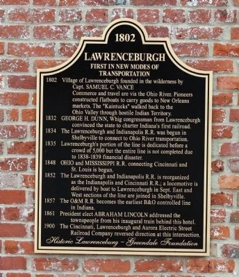 Lawrenceburgh Marker image. Click for full size.