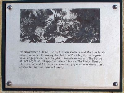 Battle of Port Royal Marker image. Click for full size.