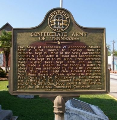 Confederate Army of Tennessee Marker image. Click for full size.