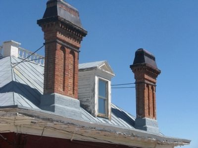 Detail of Chimneys on South End of Building image. Click for full size.